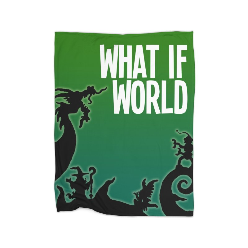 What If World Silhouette Logo Home Fleece Blanket Blanket by What If World's Imaginarium
