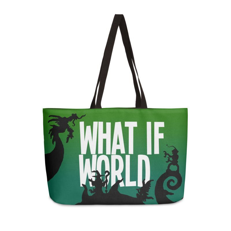 What If World Silhouette Logo in Weekender Bag by What If World's Imaginarium