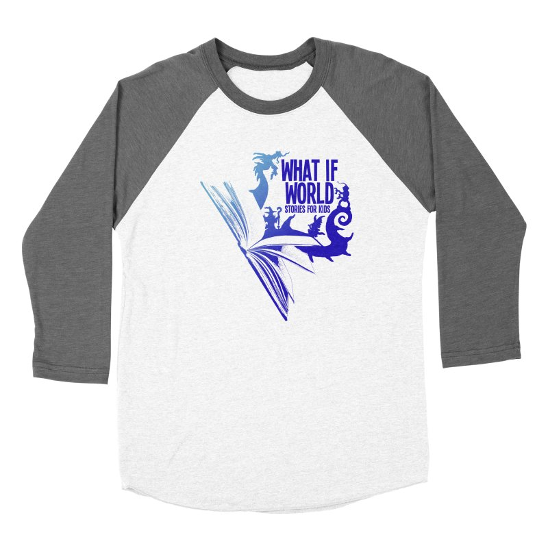 Book Logo - Blue! Men's Baseball Triblend Longsleeve T-Shirt by What If World's Imaginarium