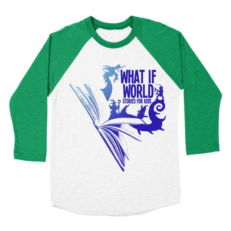 Book Logo - Blue! Men's Longsleeve T-Shirt by What If World's Imaginarium