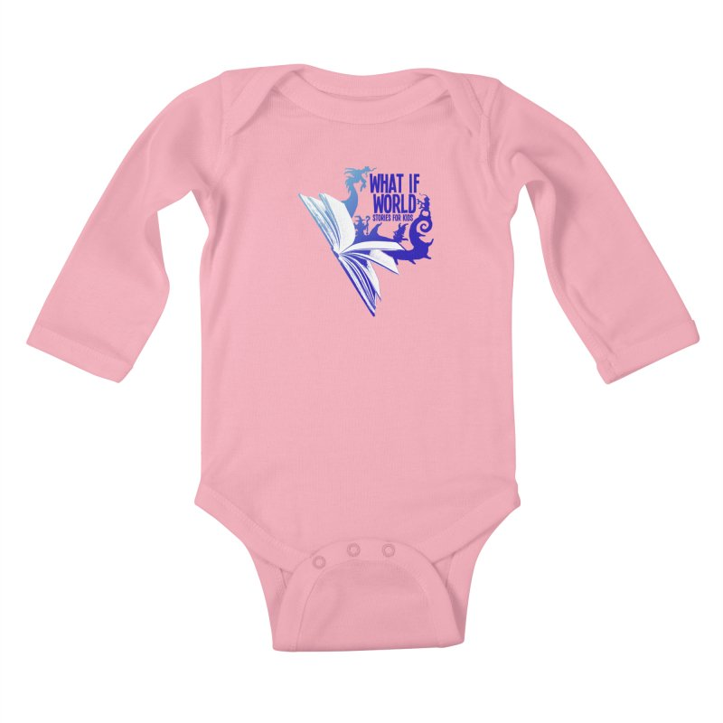 Book Logo - Blue! Kids Baby Longsleeve Bodysuit by What If World's Imaginarium