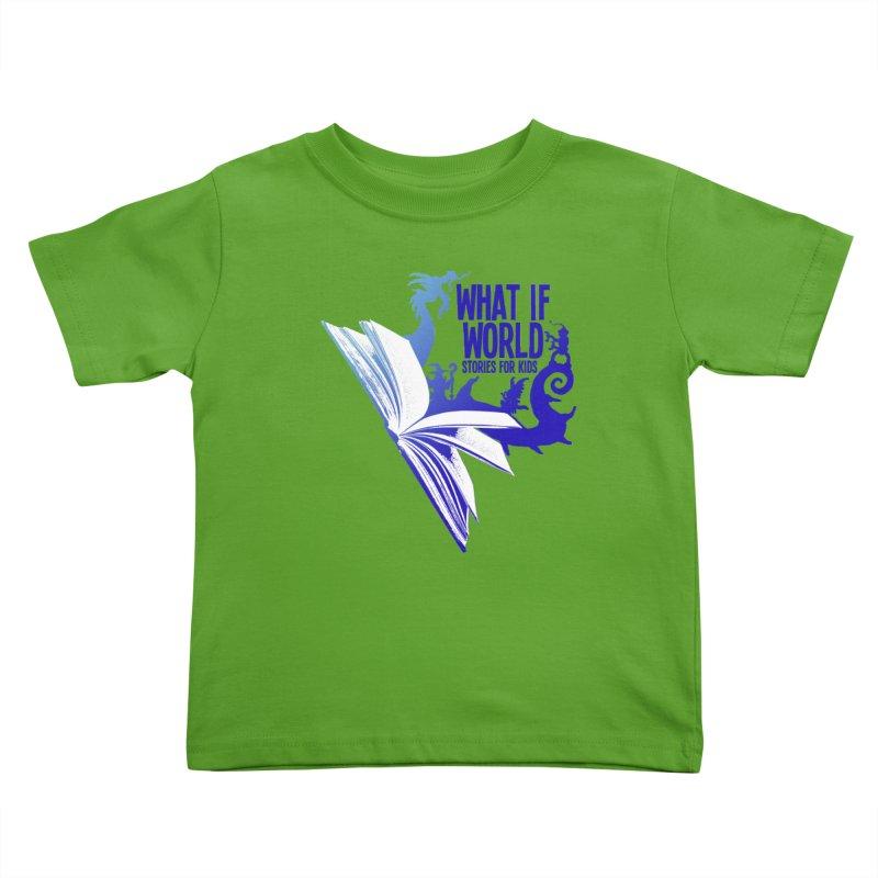 Book Logo - Blue! Kids Toddler T-Shirt by What If World's Imaginarium
