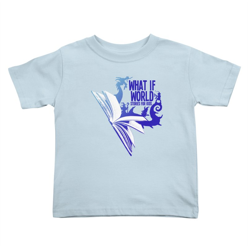 Book Logo - Blue! Kids Toddler T-Shirt by What If World's Imaginarium
