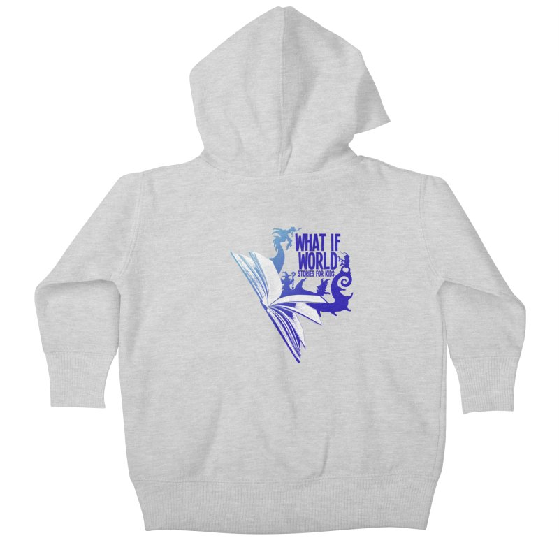 Book Logo - Blue! Kids Baby Zip-Up Hoody by What If World's Imaginarium