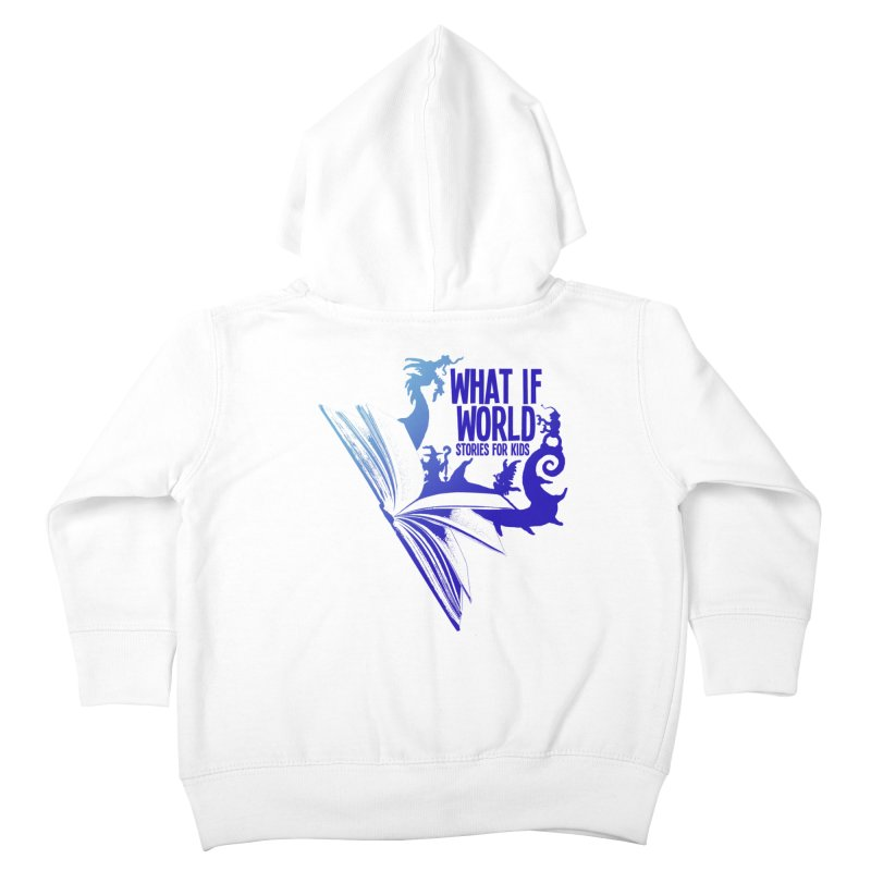 Book Logo - Blue! Kids Toddler Zip-Up Hoody by What If World's Imaginarium