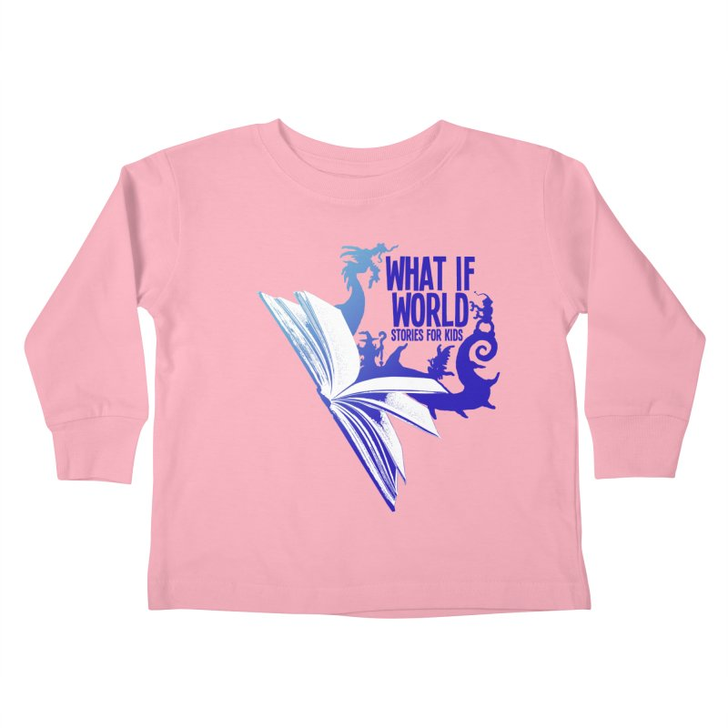 Book Logo - Blue! Kids Toddler Longsleeve T-Shirt by What If World's Imaginarium