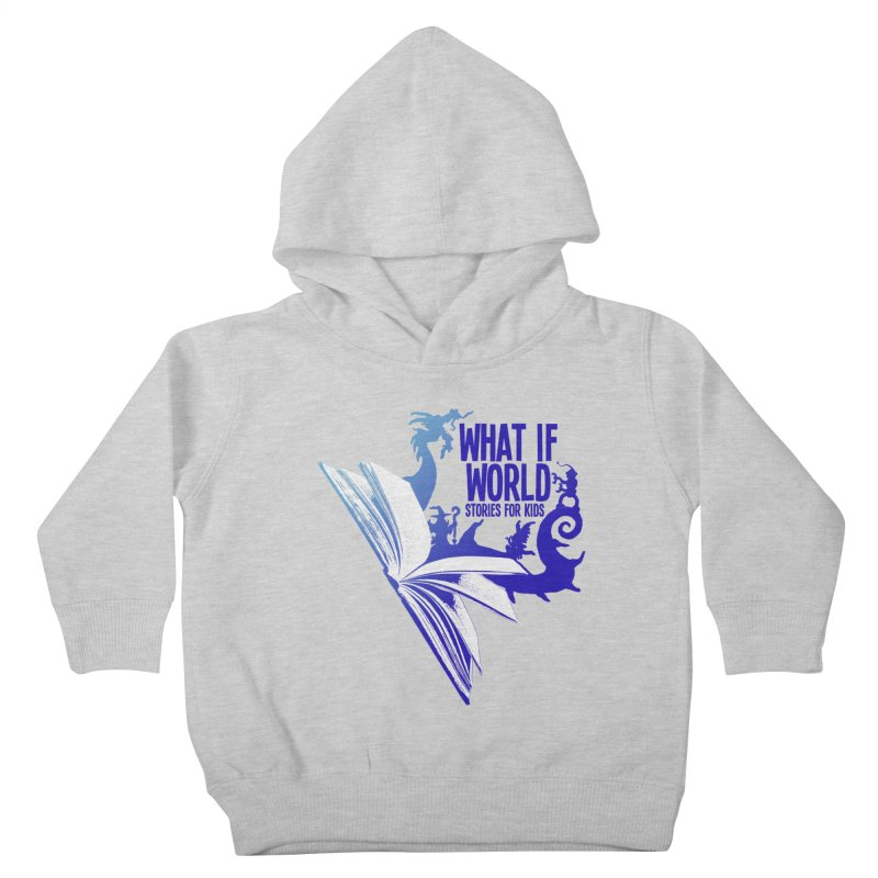 Book Logo - Blue! Kids Toddler Pullover Hoody by What If World's Imaginarium