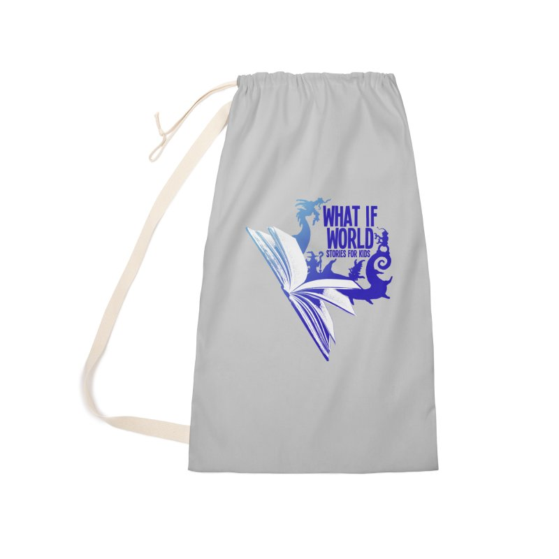Book Logo - Blue! Accessories Laundry Bag Bag by What If World's Imaginarium
