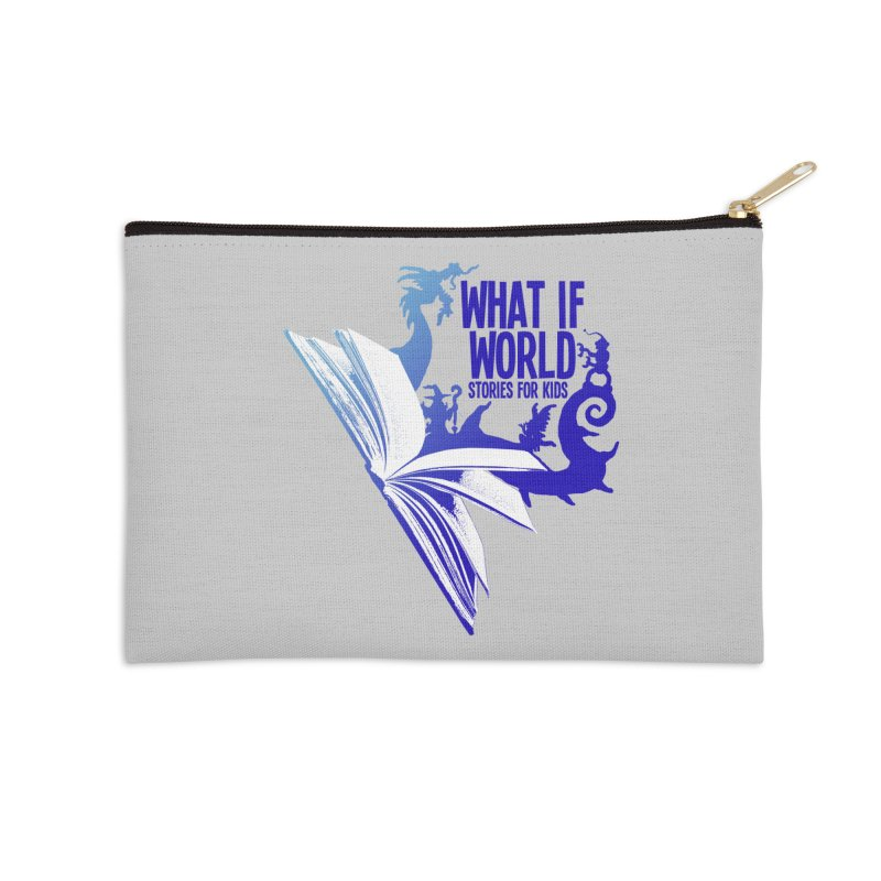 Book Logo - Blue! Accessories Zip Pouch by What If World's Imaginarium