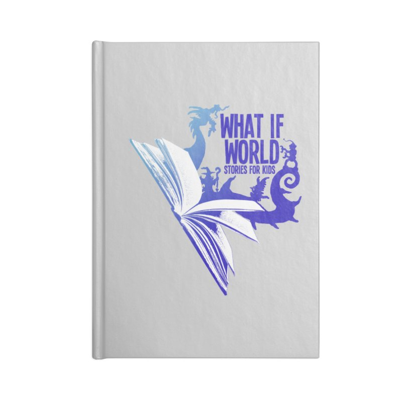 Book Logo - Blue! Accessories Lined Journal Notebook by What If World's Imaginarium