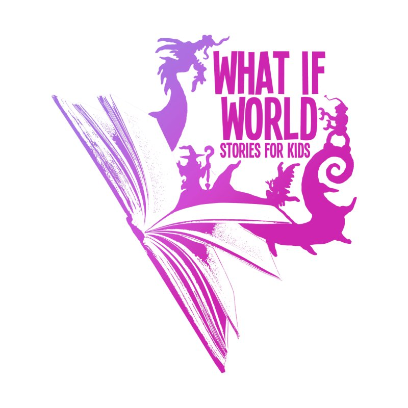 Book Logo - Purple Kids T-Shirt by What If World's Imaginarium