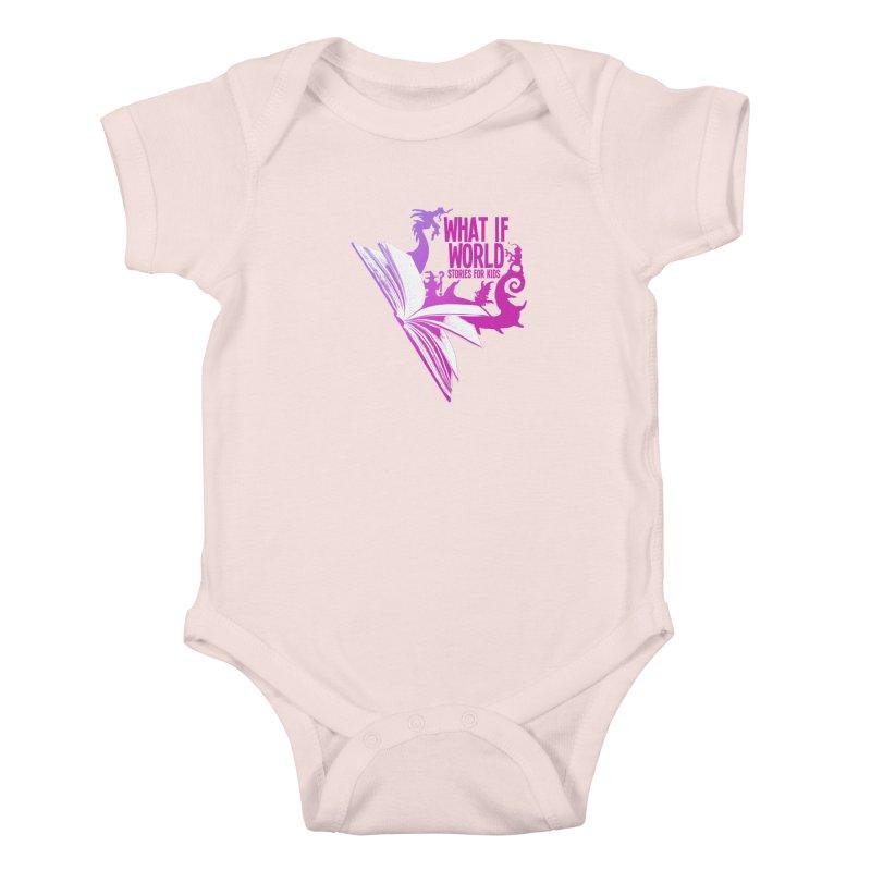 Book Logo - Purple Kids Baby Bodysuit by What If World's Imaginarium
