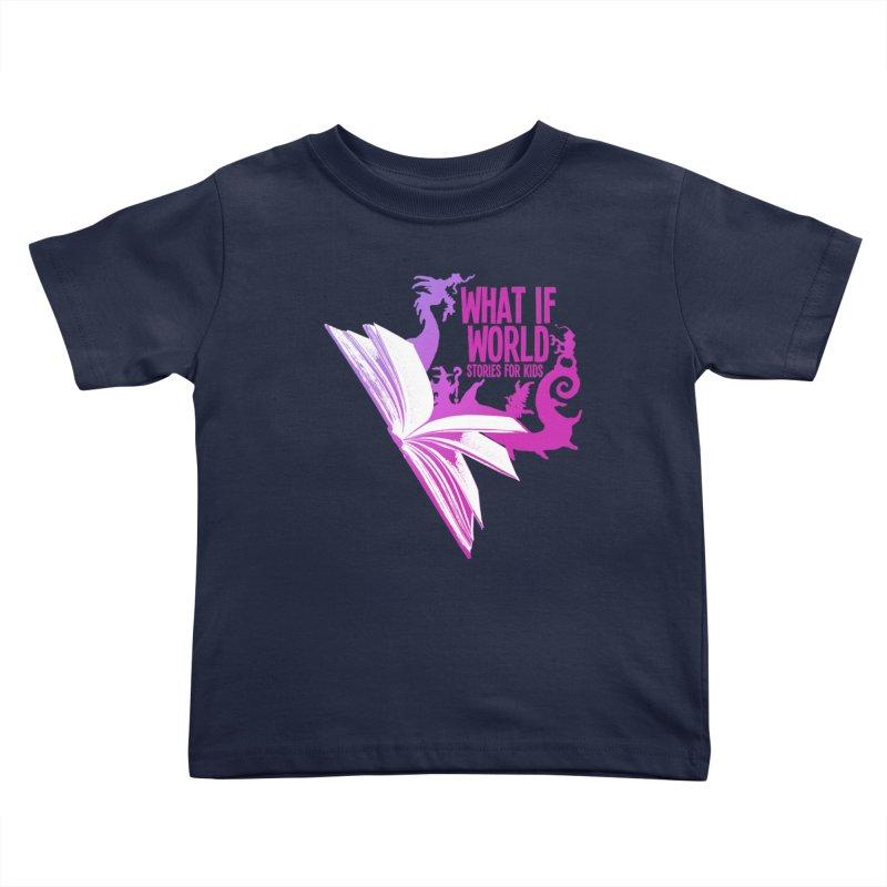 Book Logo - Purple Kids Toddler T-Shirt by What If World's Imaginarium