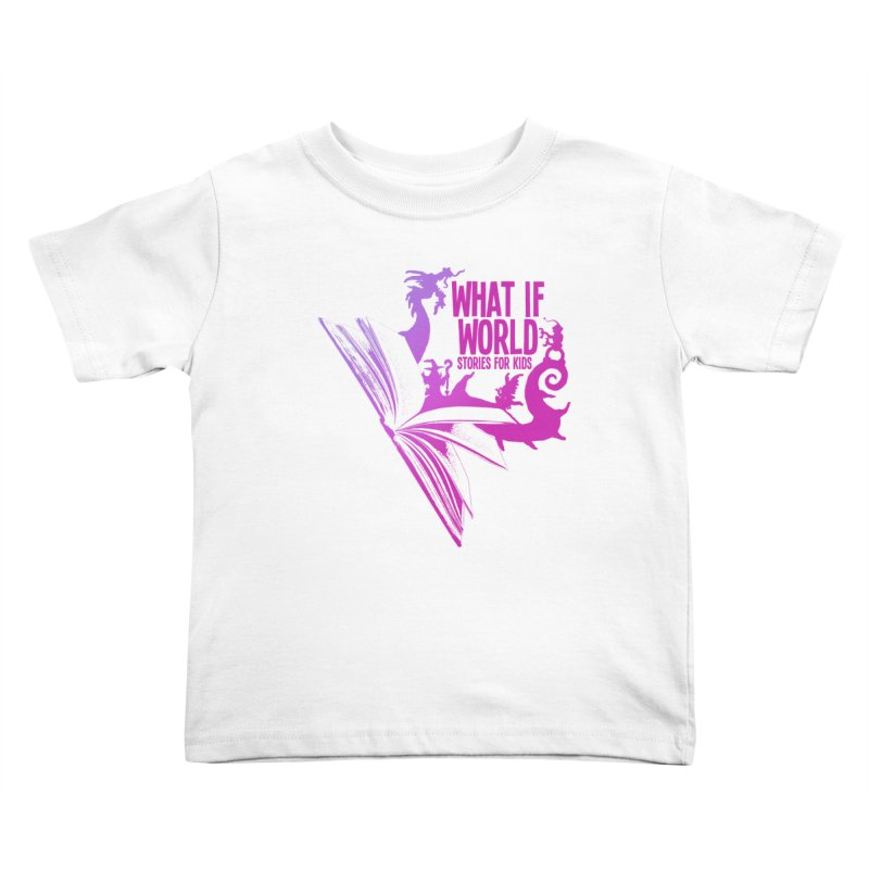 Book Logo - Purple Kids Toddler T-Shirt by What If World's Imaginarium