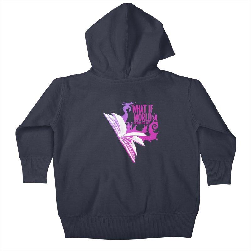 Book Logo - Purple Kids Baby Zip-Up Hoody by What If World's Imaginarium