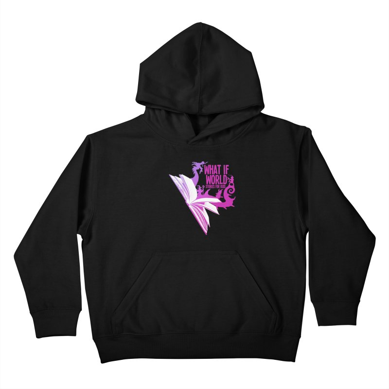 Book Logo - Purple Kids Pullover Hoody by What If World's Imaginarium