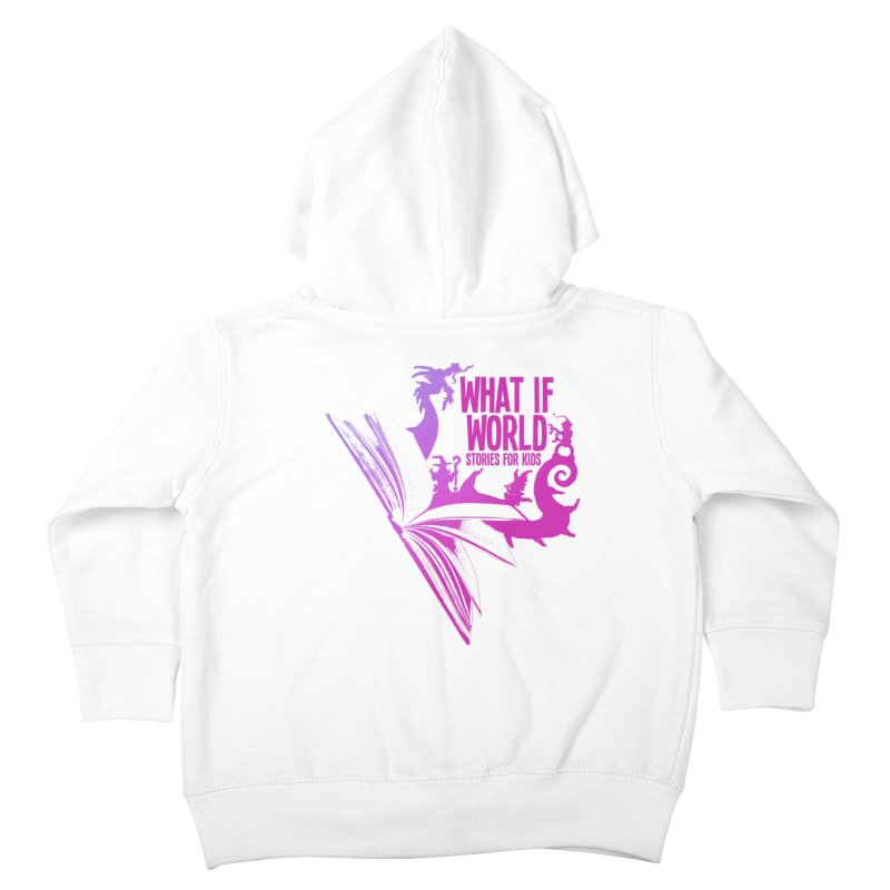 Book Logo - Purple Kids Toddler Zip-Up Hoody by What If World's Imaginarium