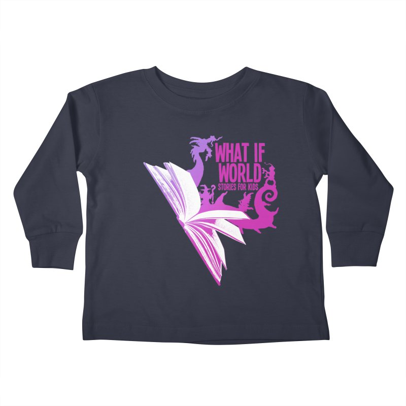 Book Logo - Purple Kids Toddler Longsleeve T-Shirt by What If World's Imaginarium