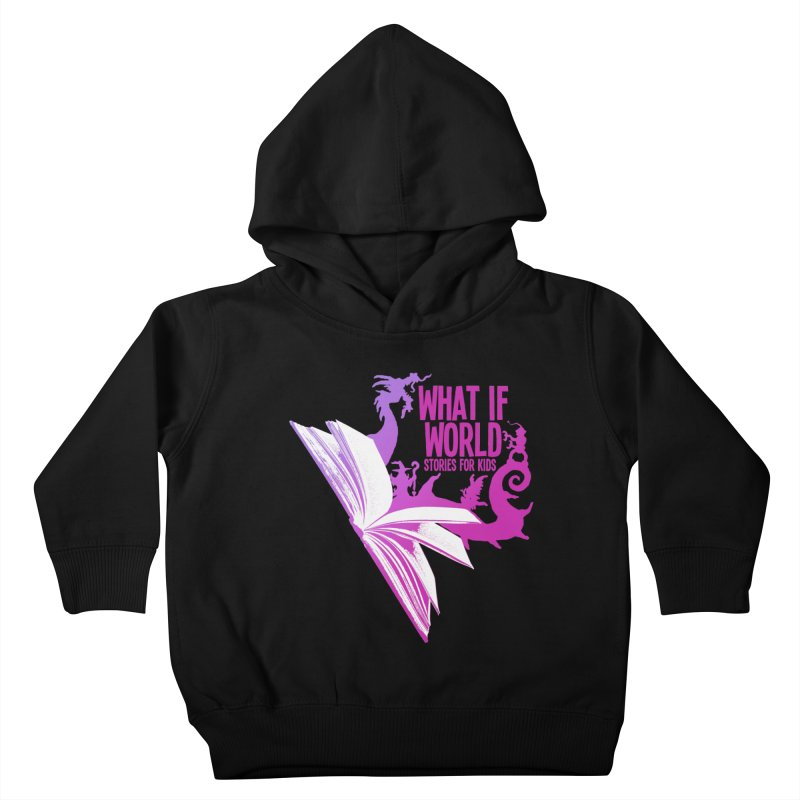 Book Logo - Purple Kids Toddler Pullover Hoody by What If World's Imaginarium