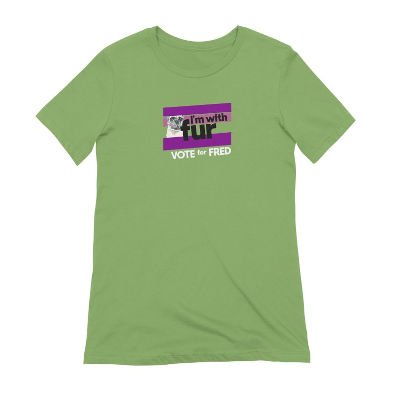 Vote for Fred (Purple) Women's Extra Soft T-Shirt by What If World's Imaginarium
