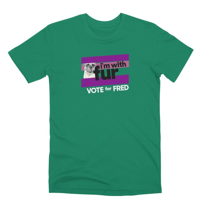 Vote for Fred (Purple) Men's Premium T-Shirt by What If World's Imaginarium