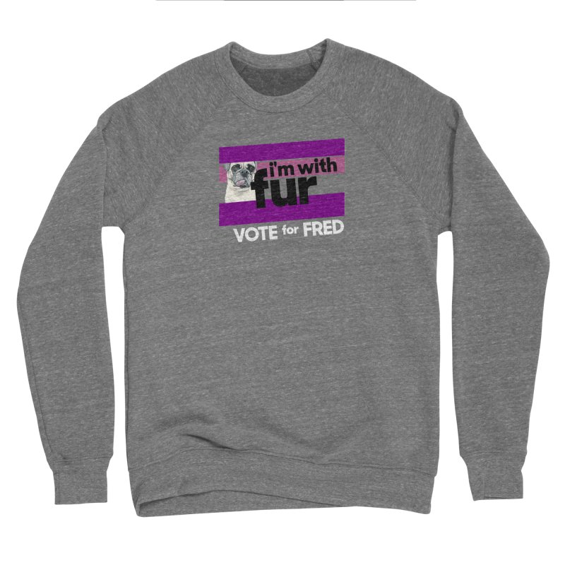 Vote for Fred (Purple) Men's Sponge Fleece Sweatshirt by What If World's Imaginarium