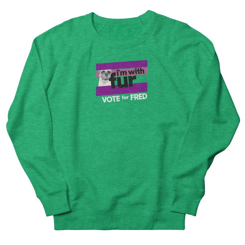 Vote for Fred (Purple) Women's Sweatshirt by What If World's Imaginarium