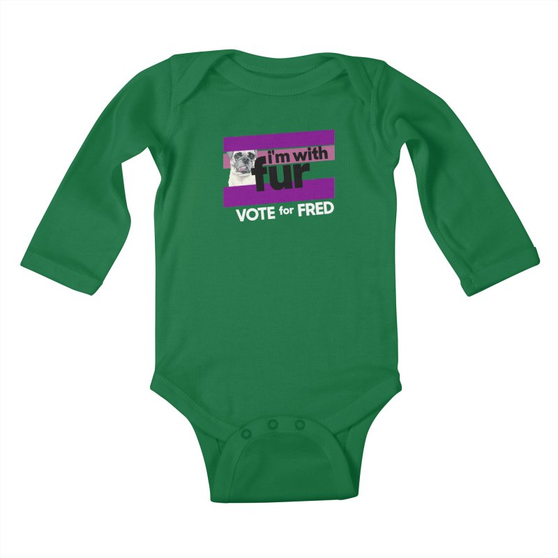 Vote for Fred (Purple) Kids Baby Longsleeve Bodysuit by What If World's Imaginarium