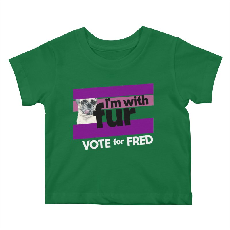 Vote for Fred (Purple) Kids Baby T-Shirt by What If World's Imaginarium
