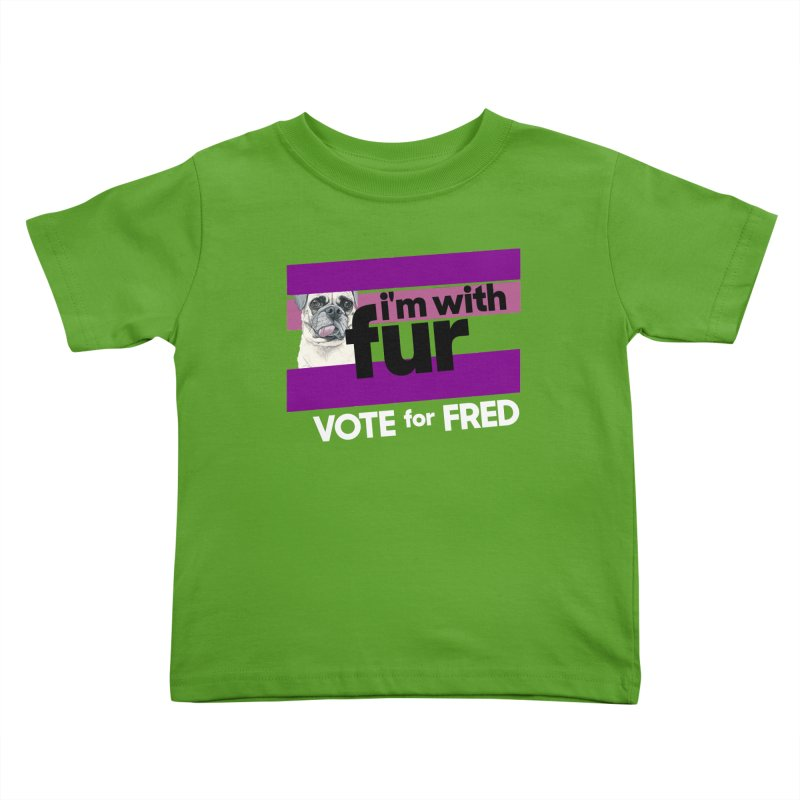 Vote for Fred (Purple) Kids Toddler T-Shirt by What If World's Imaginarium