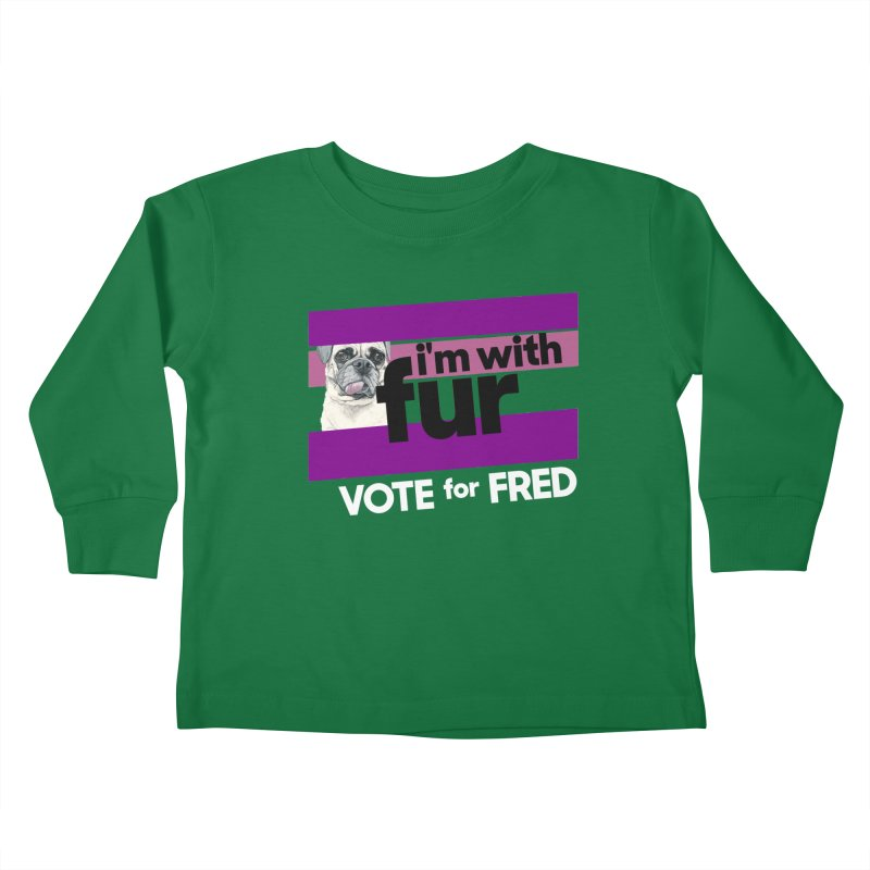 Vote for Fred (Purple) Kids Toddler Longsleeve T-Shirt by What If World's Imaginarium