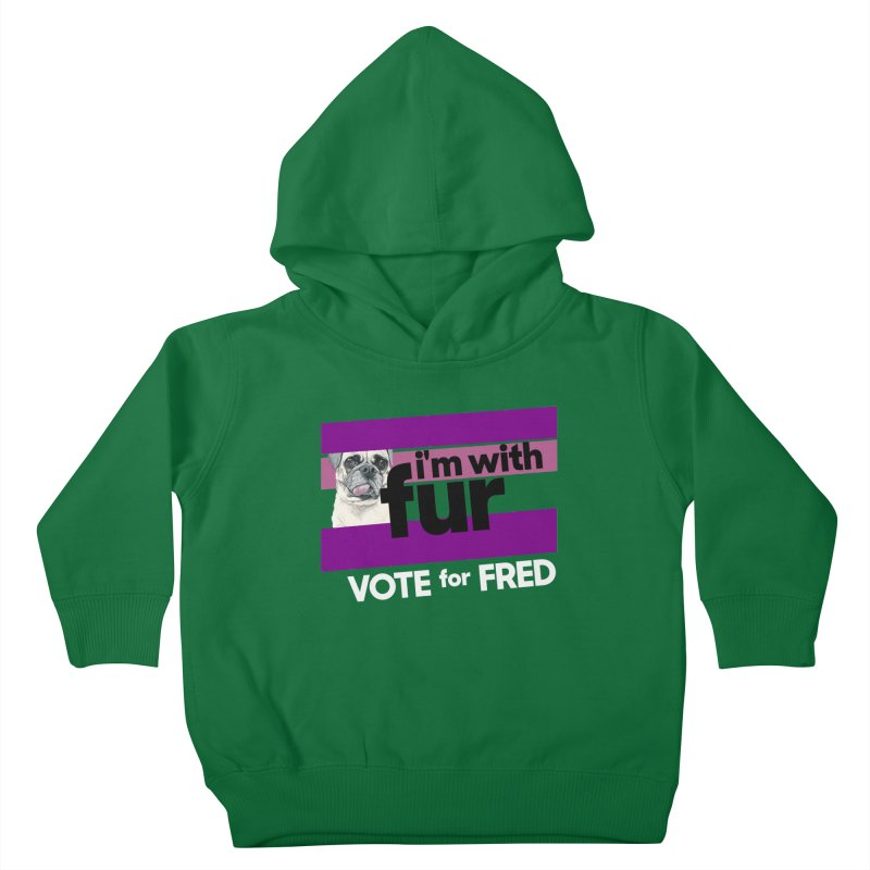 Vote for Fred (Purple) Kids Toddler Pullover Hoody by What If World's Imaginarium