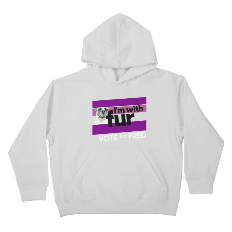 Vote for Fred (Purple) Kids Pullover Hoody by What If World's Imaginarium