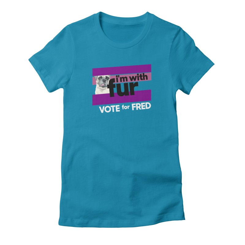 Vote for Fred (Purple) Women's Fitted T-Shirt by What If World's Imaginarium