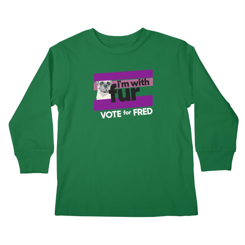 Vote for Fred (Purple) Kids Longsleeve T-Shirt by What If World's Imaginarium