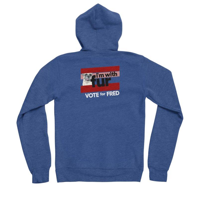 Vote for Fred (Red) Men's Sponge Fleece Zip-Up Hoody by What If World's Imaginarium