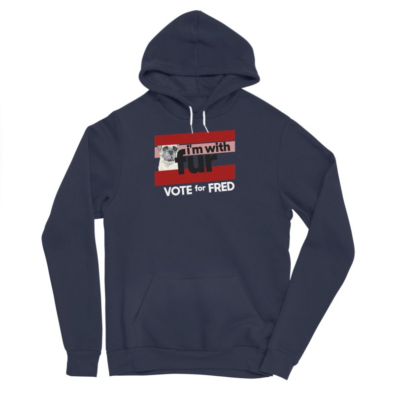 Vote for Fred (Red) Men's Sponge Fleece Pullover Hoody by What If World's Imaginarium
