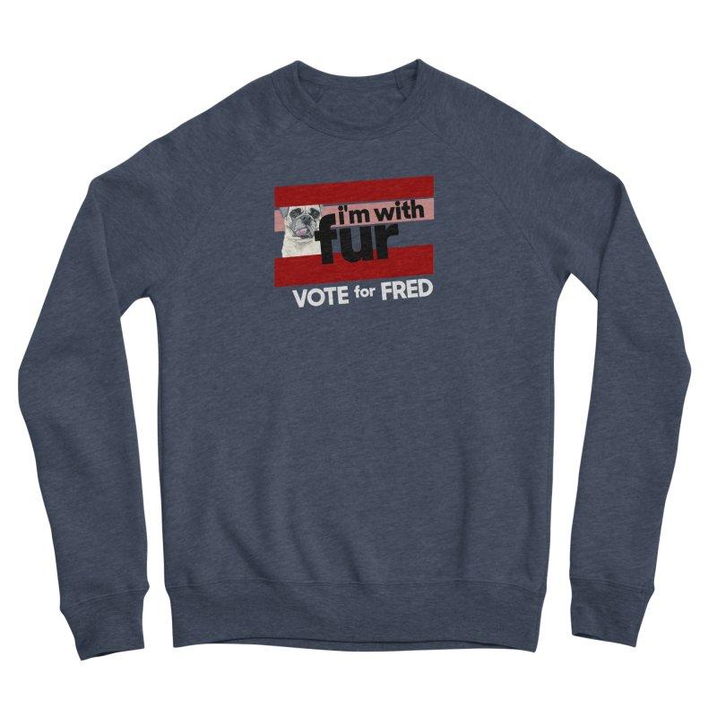 Vote for Fred (Red) Men's Sponge Fleece Sweatshirt by What If World's Imaginarium