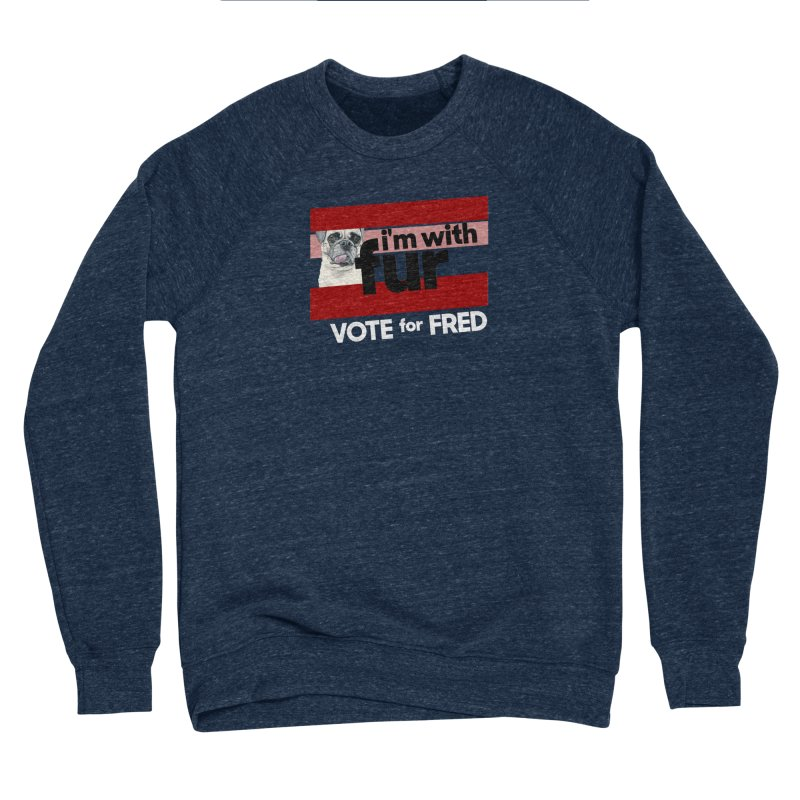 Vote for Fred (Red) Men's Sponge Fleece Sweatshirt by What If World's Imaginarium