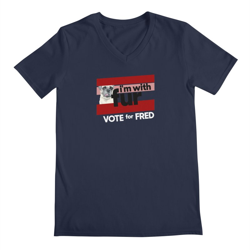 Vote for Fred (Red) Men's Regular V-Neck by What If World's Imaginarium