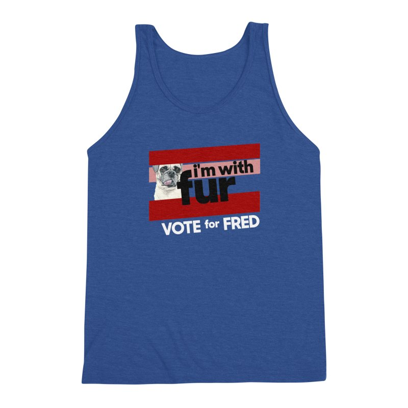 Vote for Fred (Red) Men's Triblend Tank by What If World's Imaginarium
