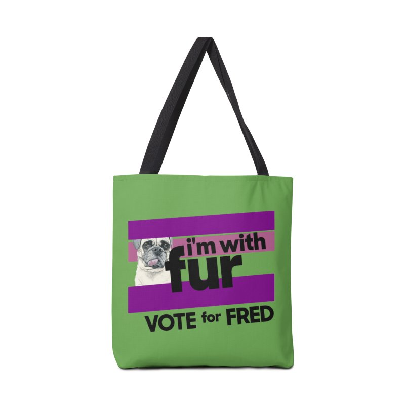 Vote for Fred (Accessories) Accessories Tote Bag Bag by What If World's Imaginarium