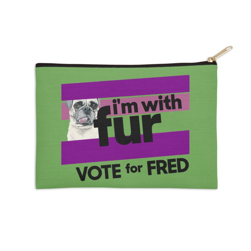Vote for Fred (Accessories) Accessories Zip Pouch by What If World's Imaginarium