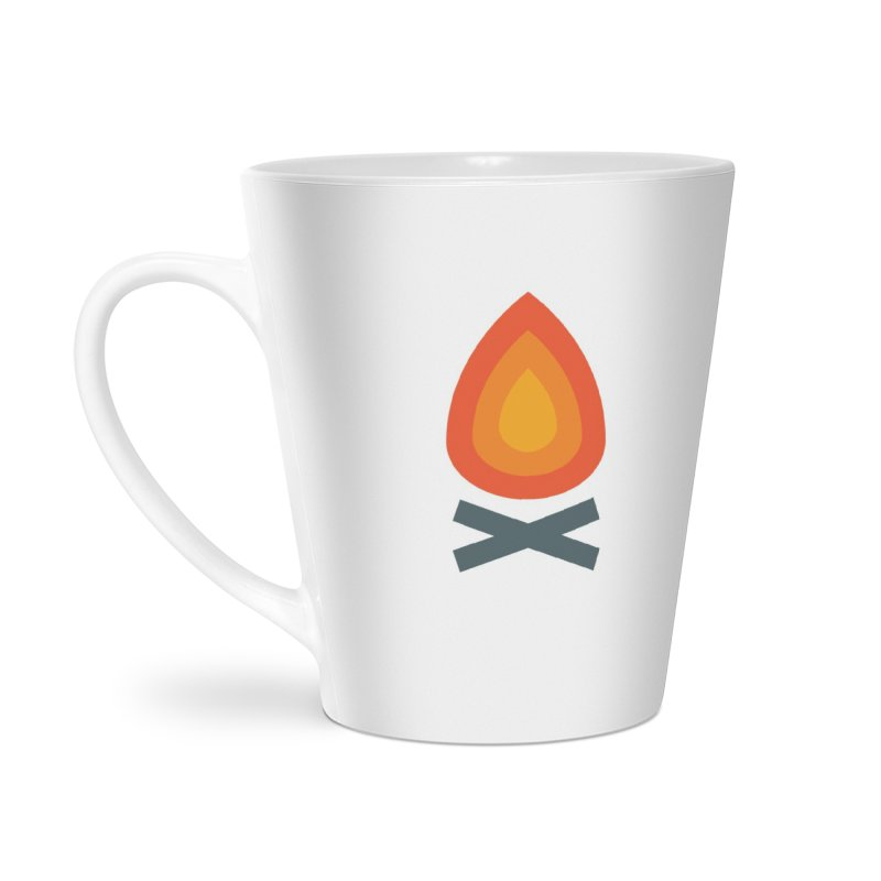 Campfire Media Logo Accessories Latte Mug by Campfire Media