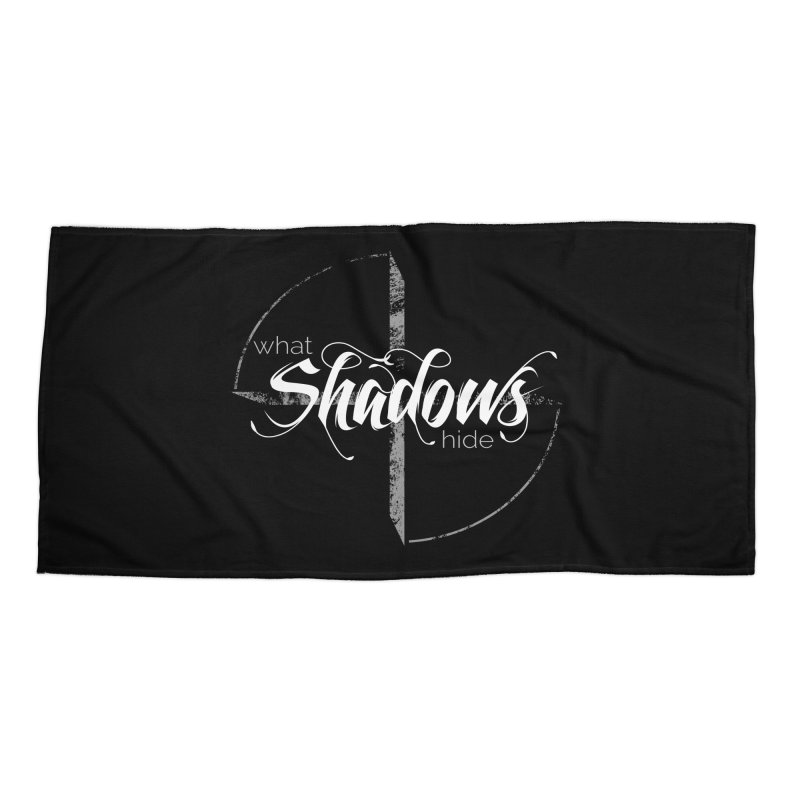 Band Logo Accessories Beach Towel by What Shadows Hide