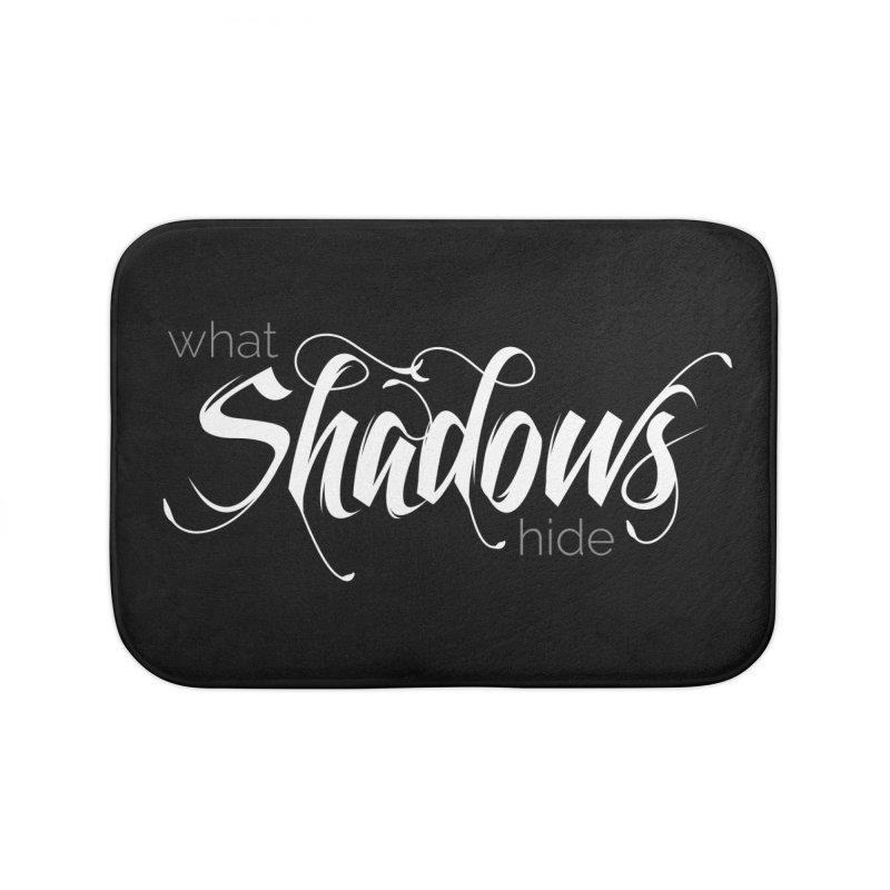 Band Logo Home Bath Mat by What Shadows Hide