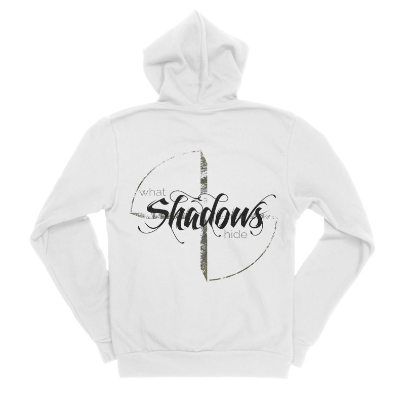 Band Logo Black Men's Zip-Up Hoody by What Shadows Hide