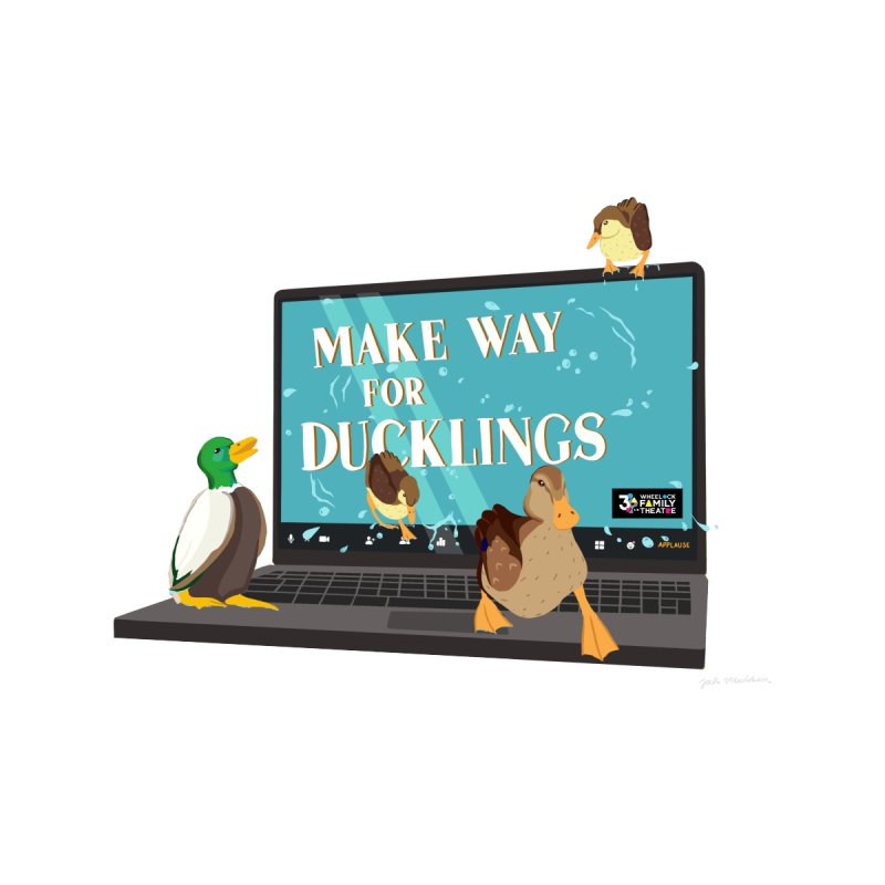 MAKE WAY FOR DUCKLINGS Men's Sweatshirt by Wheelock Family Theatre Merch