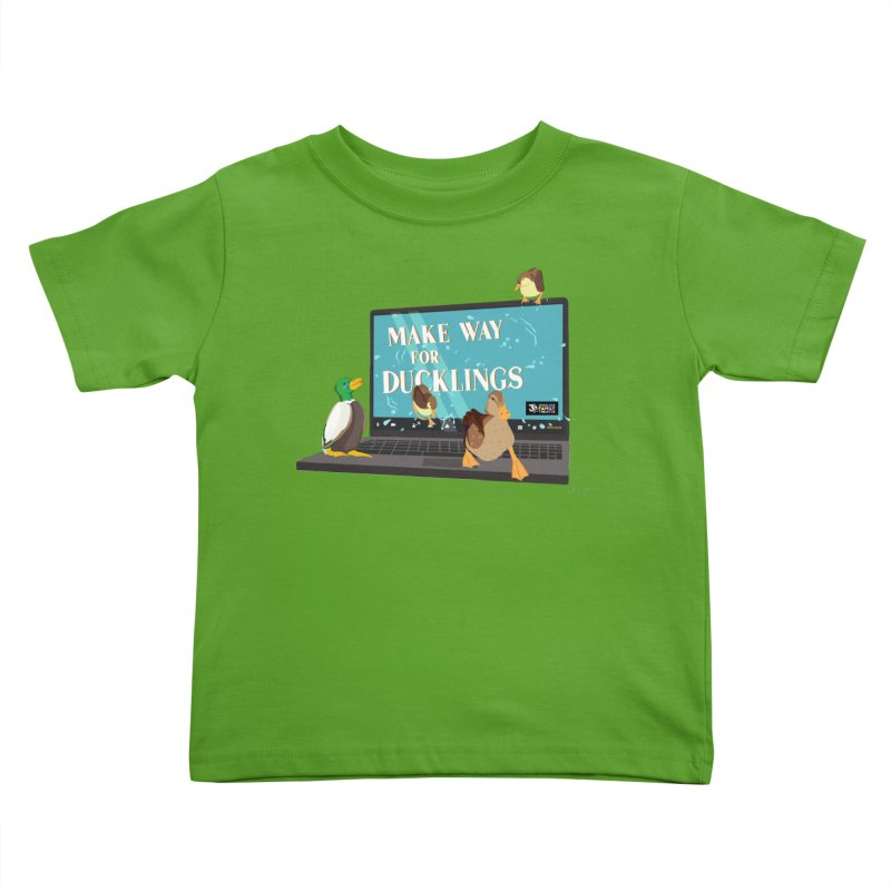 MAKE WAY FOR DUCKLINGS Kids Toddler T-Shirt by Wheelock Family Theatre Merch
