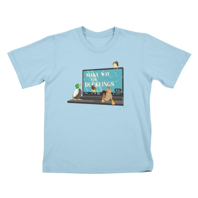 MAKE WAY FOR DUCKLINGS Kids T-Shirt by Wheelock Family Theatre Merch
